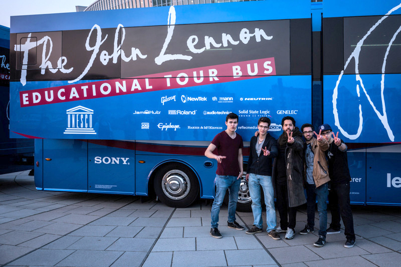john lennon educational tour bus archive kruger media pr agentur berlin musik lifestyle. Black Bedroom Furniture Sets. Home Design Ideas