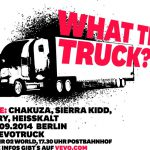"Vevo parkt am Freitag, 5. September, zwei ""What The Truck?!""-Bühnen beim ""First We Take The Streets""-Festival der Berlin Music Week mit Chakuza"